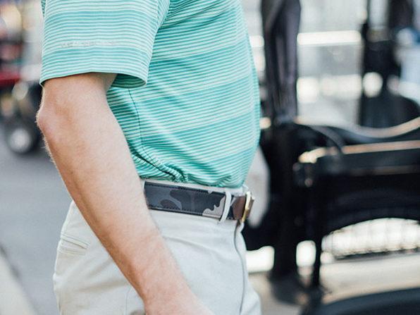 FH Wadsworth Leather Belt (Blue Camouflage/Size 42)