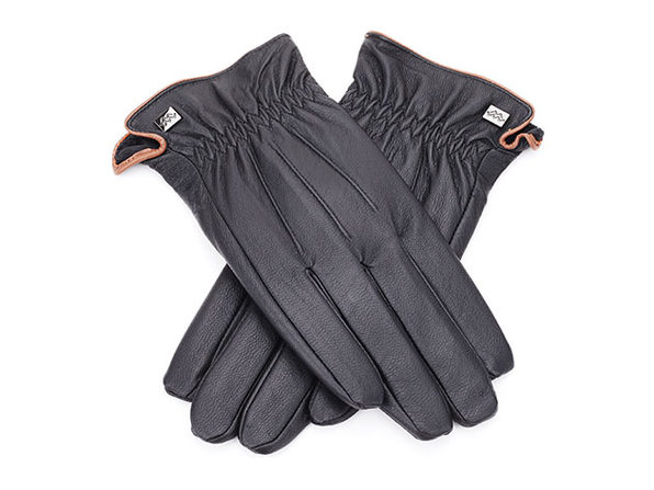 Cold-Weather Leather Gloves (Black)