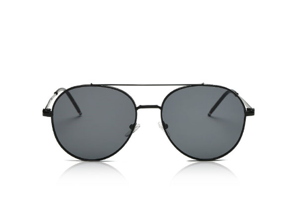 Mavis Classic Mirrored Aviator Sunglasses (Black)