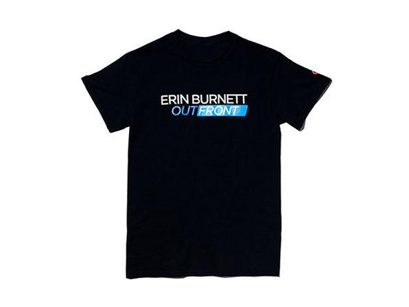 Erin Burnett OutFront Tee Black  2XL