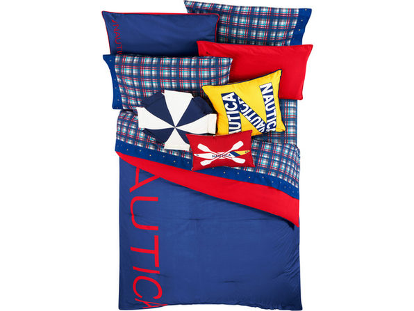 Nautica Kids Reversible Colorblock 100% Fine Imported Cotton Comforter Set - Full