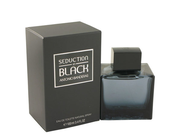 Seduction In Black Eau De Toilette Spray 3.4 oz For Men 100% authentic perfect as a gift or just everyday use - Product Image