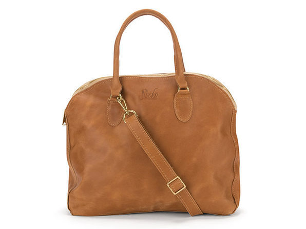 Sheba Leather Handbag in Oiled Caramel