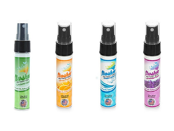 Flushie Pre-Toilet Spray: 4-Pack - Product Image