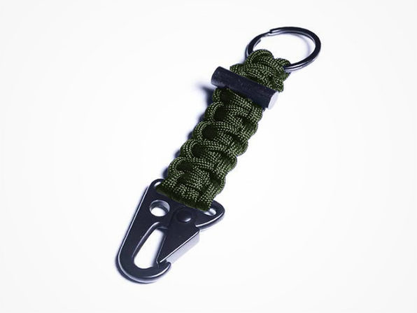 Paracord Keychain | Bomber Carabiner Paracord Keychain (Green)