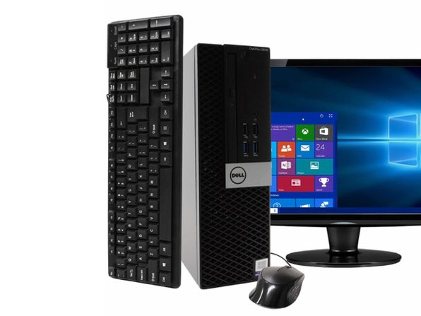 "Dell OptiPlex 3040 Desktop PC, 3.2GHz Intel i5 Quad Core Gen 6, 8GB RAM, 500GB SATA HD, Windows 10 Professional 64 bit, 22"" Widescreen Screen (Renewed)"