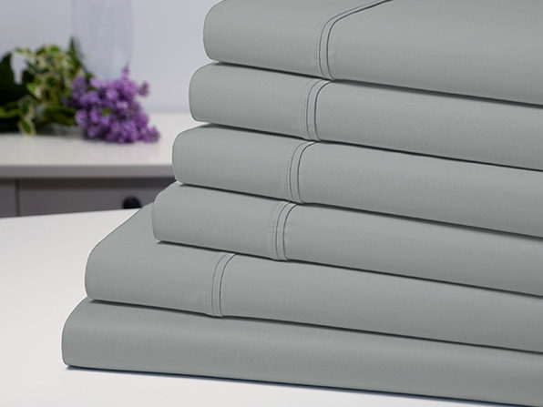 Bamboo Comfort 6 Piece Luxury Sheet Set - Silver (Full) - Product Image