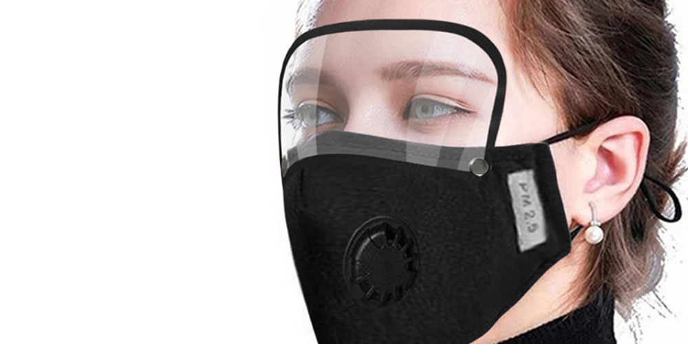 Accushield Dual-Protection Face Mask and Shield, on sale for $27.99 (29% off)