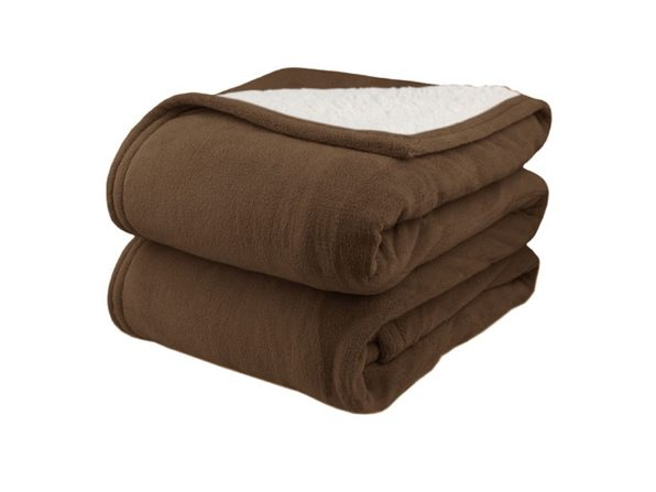 Biddeford MicroPlush Sherpa Electric Heated Blanket Full Chocolate