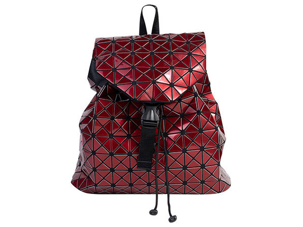 Geo Shaped Backpack - Burgundy - Product Image