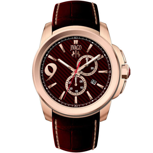 Jivago Men's Gliese Maroon Dial Watch - JV1511 - Product Image