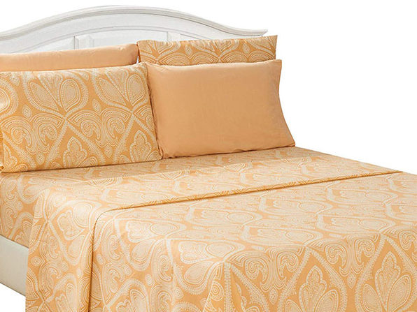 Paisley Microfiber Sheet Set (Taupe/Queen)