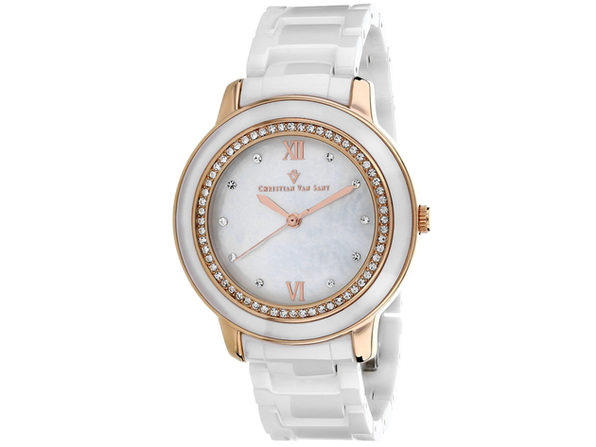Christian Van Sant Women's Clay Mother of Pearl Dial Watch - CV3216