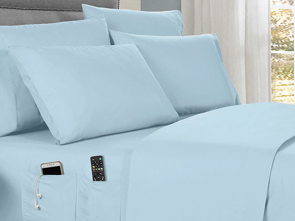 Kathy Ireland 6-Piece Smart Sheet Set (Aqua)
