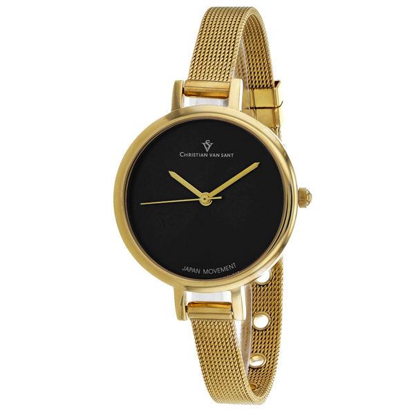 Christian Van Sant Women's Grace Black Dial Watch - CV0284 - Product Image
