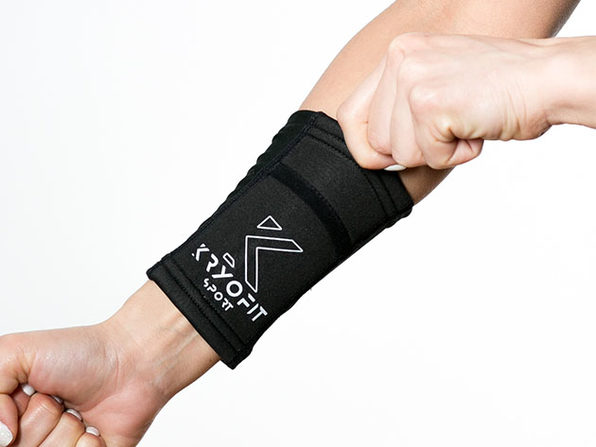 Cold Wrist/Ankle Compression Sleeves with Freeze Gel Inserts (XXL)