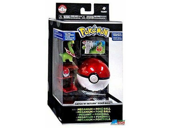 Pokemon Catch n Return Pokeball with Figure - Meganium