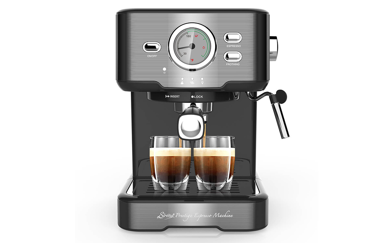 Sirena Prestige Espresso Machine, on sale for $245.65 when you use coupon code DEC15 at checkout