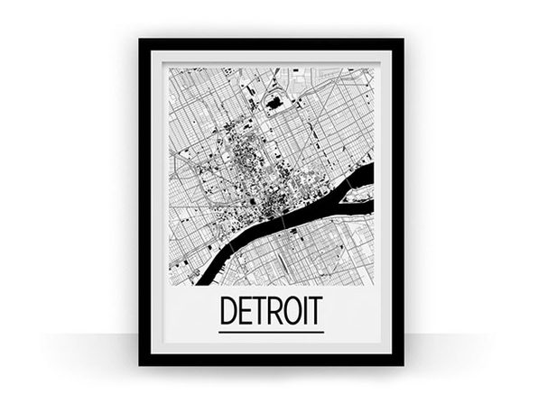 Detroit Art Deco Map Prints