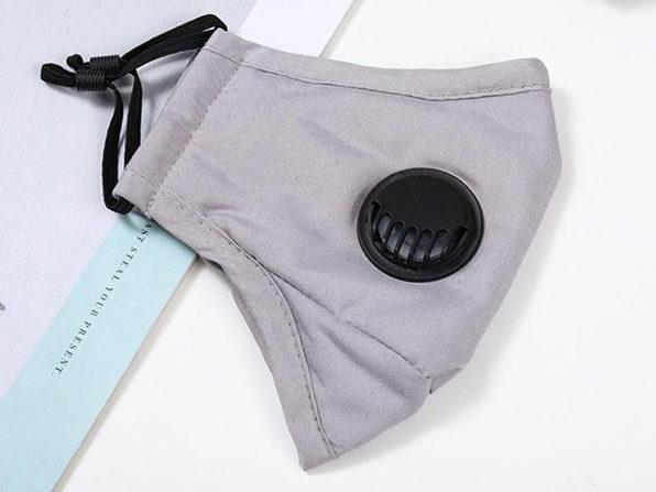 Reusable PM2.5 Cotton Mask (Grey/3-Pack)
