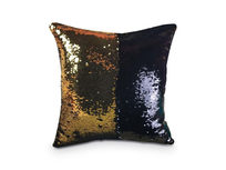 Sequin Pillow Cover- Gold/Black - Product Image