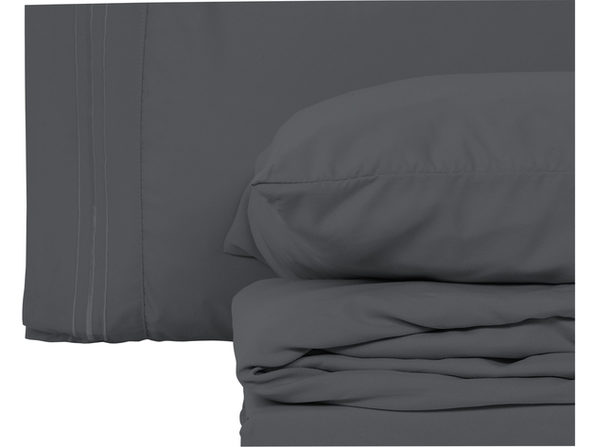 Style Basics 4 Pack of Super Soft Brushed Microfiber 16-Pieces Bed Sheet Set - 1800 Series  Easy-Clean - Maroon Queen