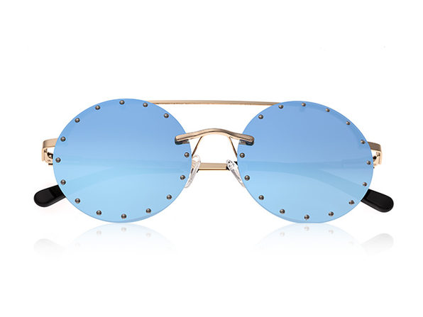 Bertha Harlow Round Metal Sunglasses
