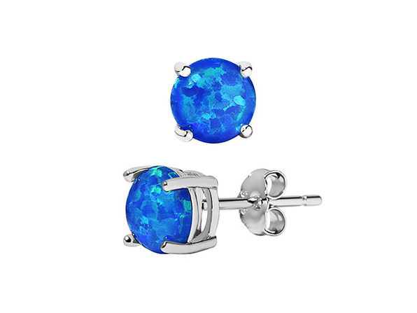 Opal Earrings - Blue - Product Image