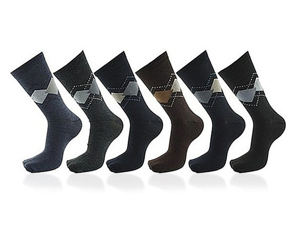 Premium Cotton Men's Dress Socks: 12-Pack