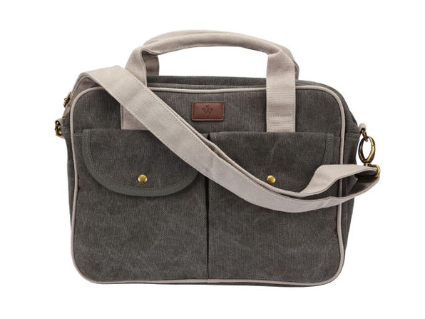 Gentry 10,000mAh Charging Messenger Bag (Dark Grey)