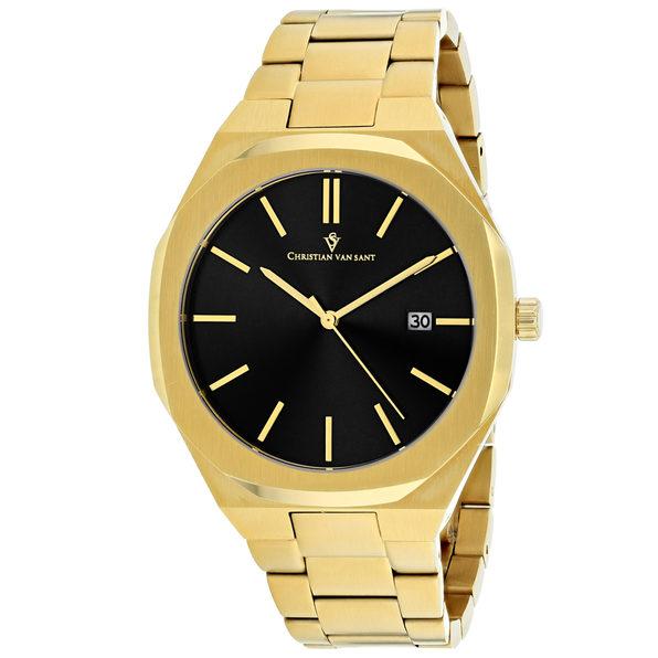 Christian Van Sant Men's Octavius Slim Black Dial Watch - CV0527