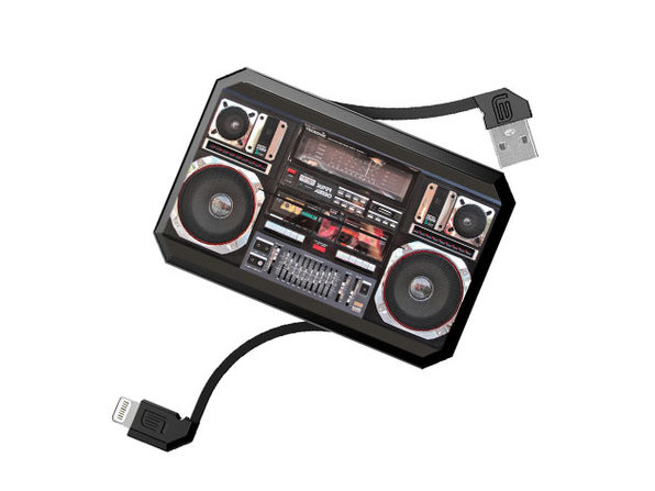 LithiumCard Pro Retro Series Lightning Battery Charger (Boombox)