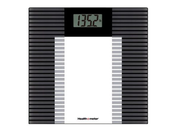 Health o Meter HDL601DQ-53 Glass Weight Tracking Scale - Black