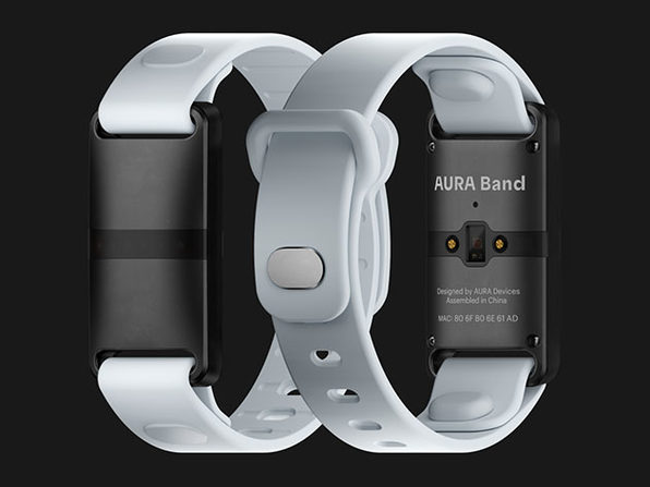Aura Band - Black Device (White Band) - Product Image