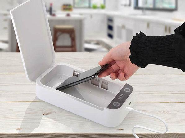 SaniCharge Phone UV Sanitizer (White/3-Pack)