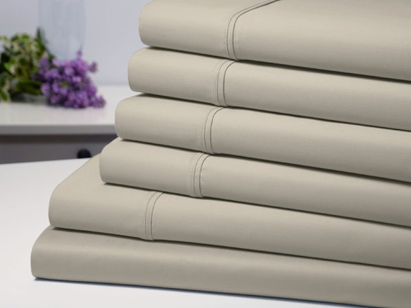 Bamboo Comfort 6 Piece Luxury Sheet Set - Taupe (Queen) - Product Image