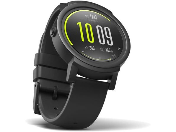 """Ticwatch E Most Comfortable Smartwatch - Shadow, 1.4"""" OLED Display, Google Assistant (Used, Open Retail Box)"""