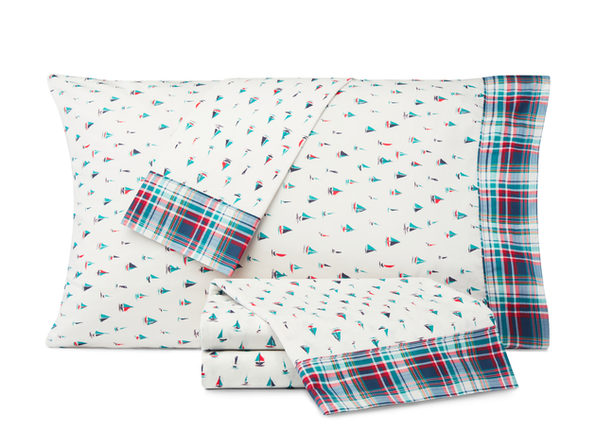 Nautica Kids Come Sail Away Cotton-Rich Sheet Set - Twin XL