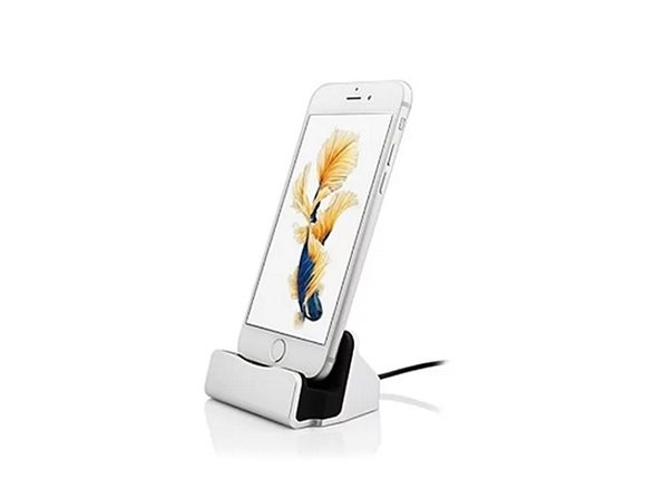 Charging Dock Station for iPhone - SILVER - Product Image