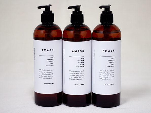 AMASS Botanic Hand Sanitizer (16oz): 3-Pack