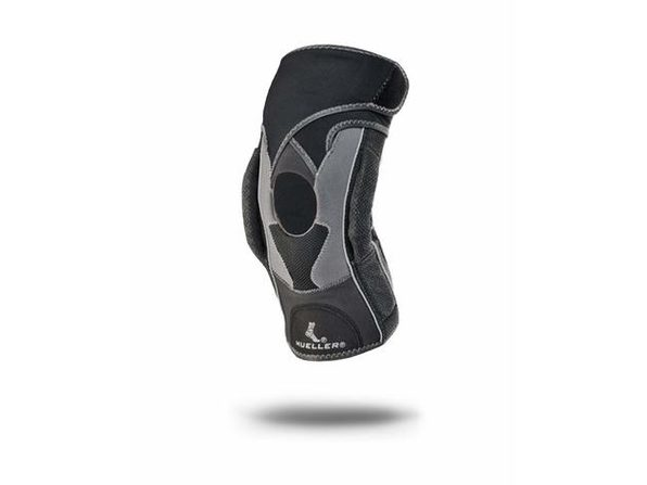 Mueller Hg80 Premium Left or Right Knee Brace with Hinge and Adjustable Straps, X-Large: 18 Inches - 20 Inches, Black - Product Image
