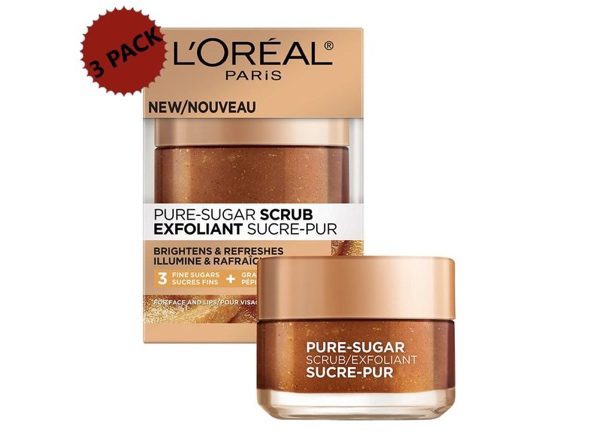 L'Oreal Paris Pure-Sugar Scrub with Grapeseed 3-Pack