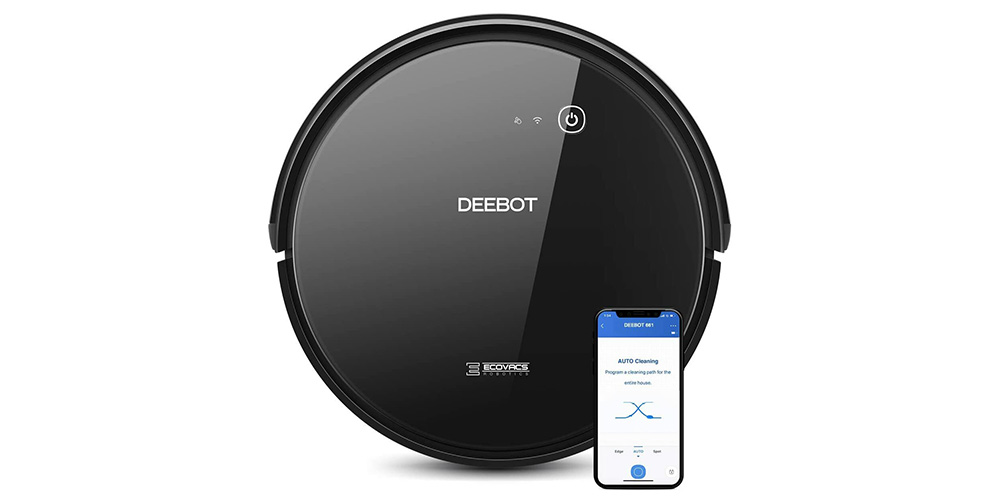 Ecovacs DEEBOT 661 Convertible Robotic Vacuum Cleaner (Refurbished), on sale for $169.99 (43% off)