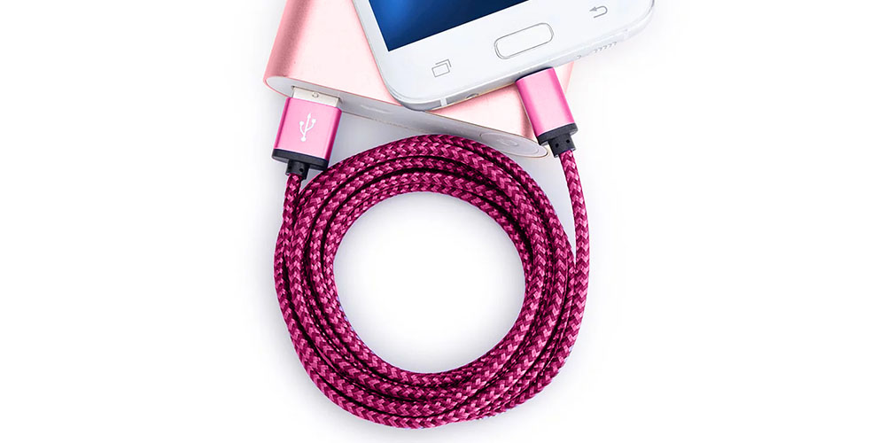 2-Pack: 10-Ft Nylon Braided USB-C Cables, on sale for $17.99 (55% off)