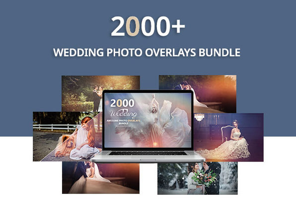 2,000+ Wedding Photo Overlays Bundle