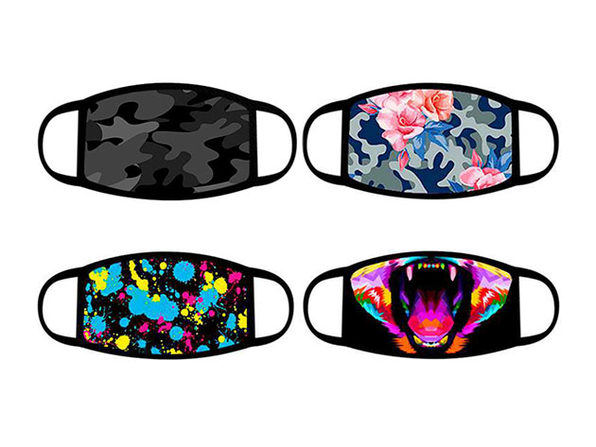 Cotton Face Masks with Fun Prints: 4-Pack (Tie-Dye)