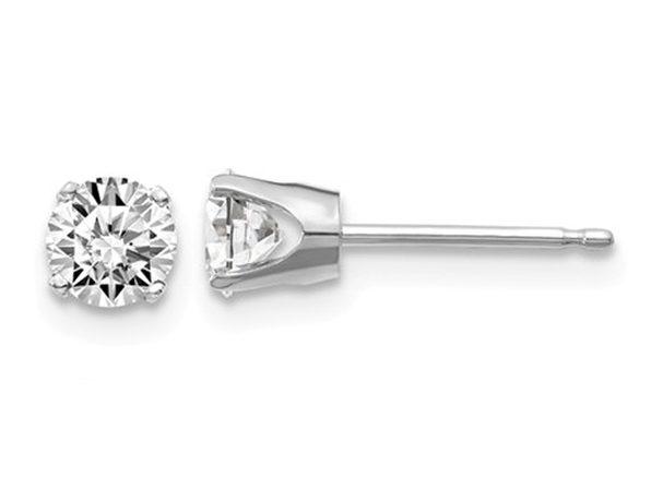 7/10 Carat (ctw I2, K-L) Diamond Solitaire Stud Earrings in 14K White Gold