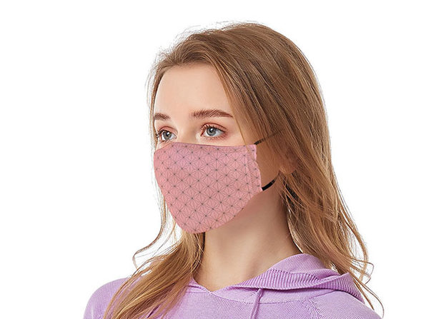 Reusable Ear Loop Face Mask 2-Pack Pink - Product Image