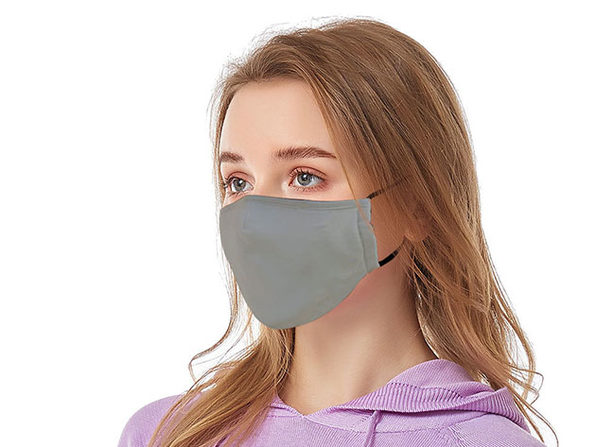 Reusable Ear Loop Face Mask 2-Pack Gray - Product Image
