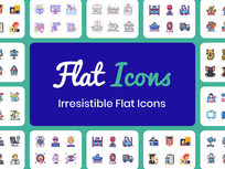 Flat Icons Bundle: Lifetime Subscription - Product Image
